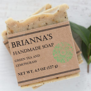 green tea lemongrass soap