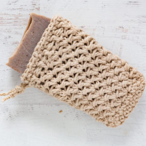 hand knit soap scrubber